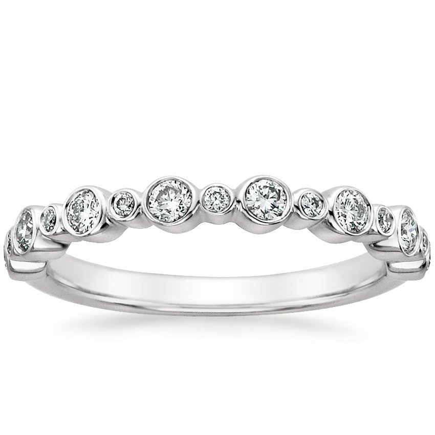 18K White Gold Isla Diamond Ring (1/4 ct. tw.), top view