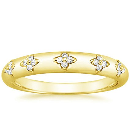 18K Yellow Gold Blossom Ring, top view