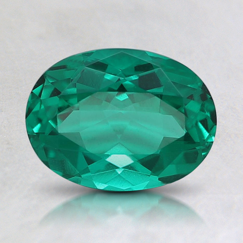 8x6mm Oval Lab Created Emerald
