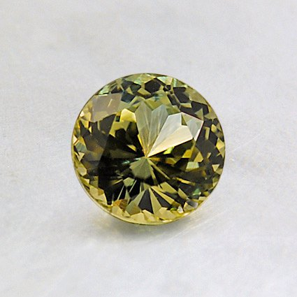 5.4mm Green Round Sapphire, top view