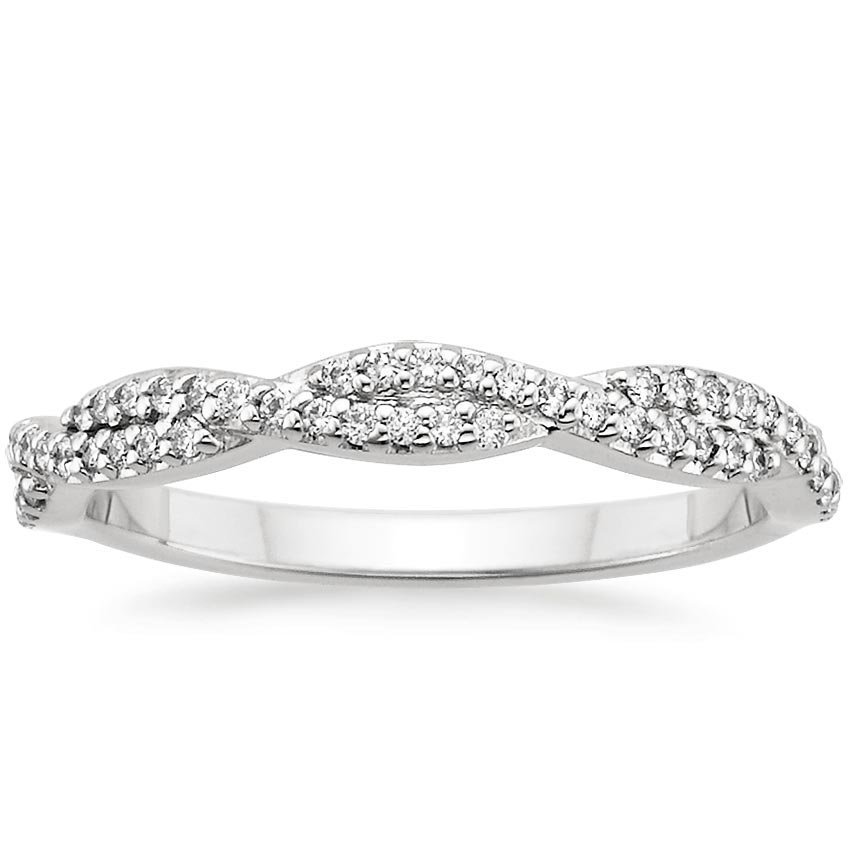 Platinum Luxe Twisted Vine Diamond Ring (1/4 ct. tw.), top view