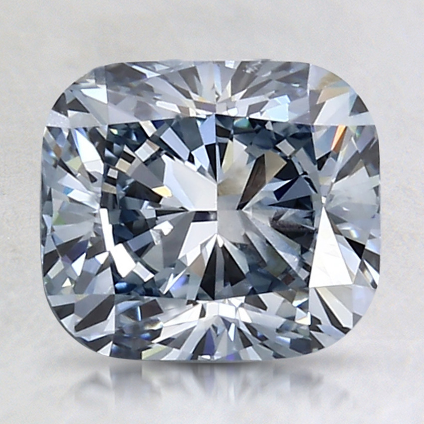 2.26 Ct. Fancy Blue Cushion Lab Created Diamond