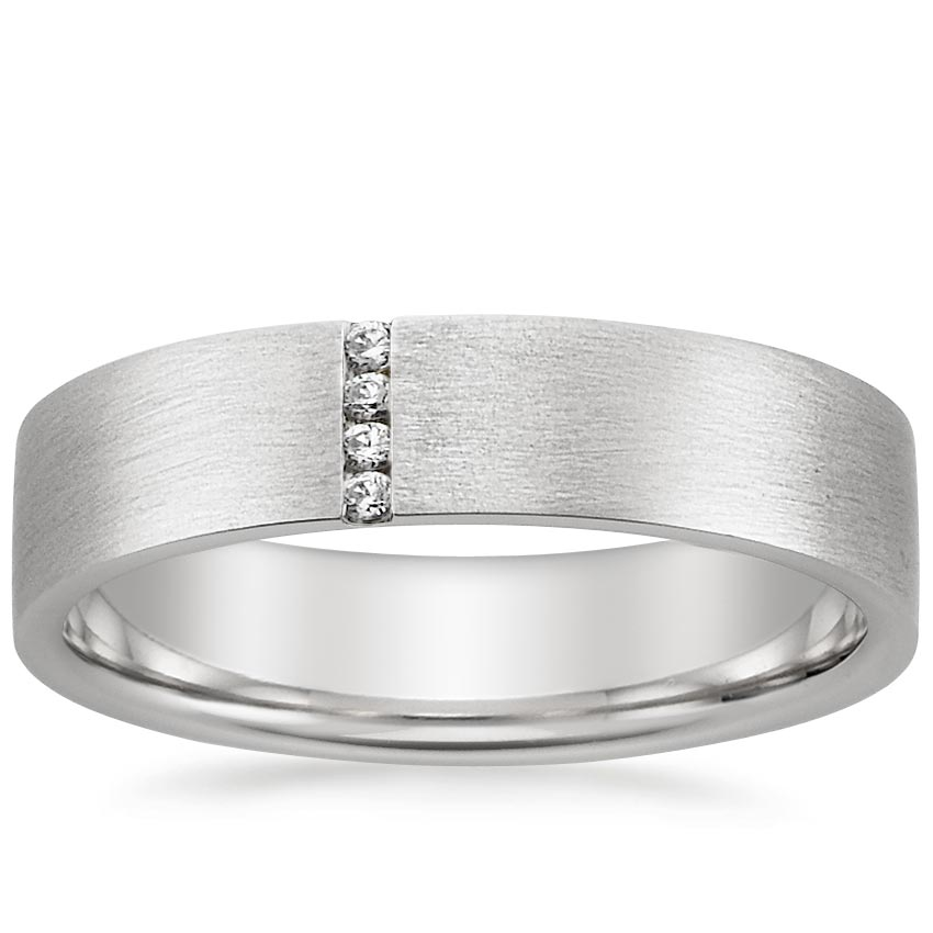 18K White Gold Horizon Ring, top view