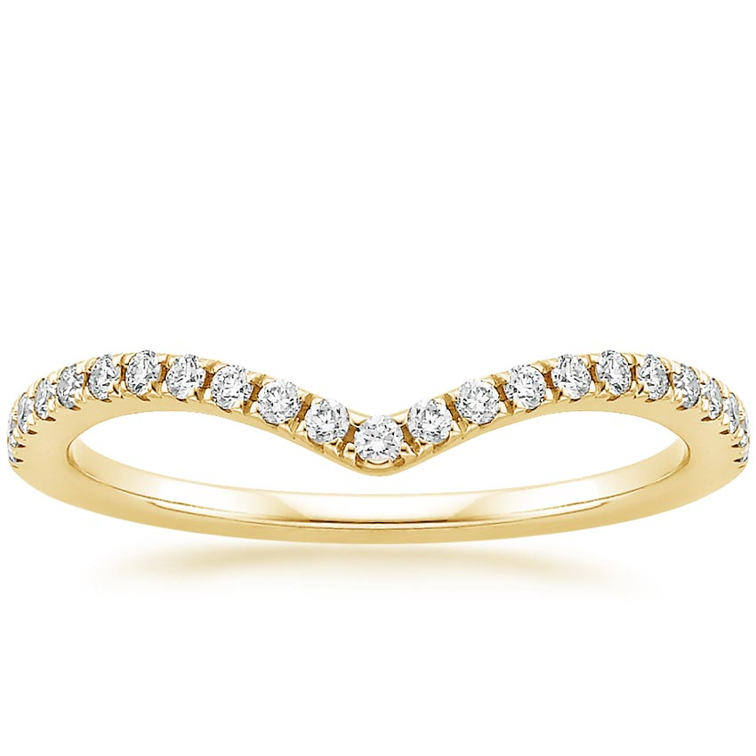 Yellow Gold Flair Diamond Ring (1/6 ct. tw.)