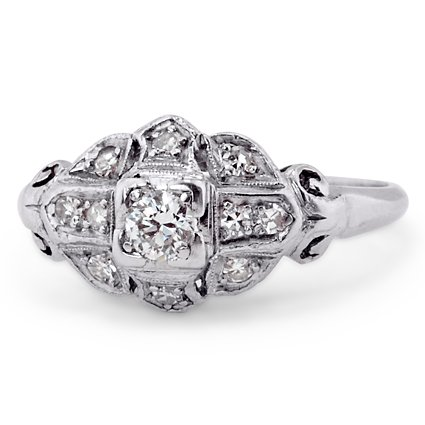 The Ella Ring, top view