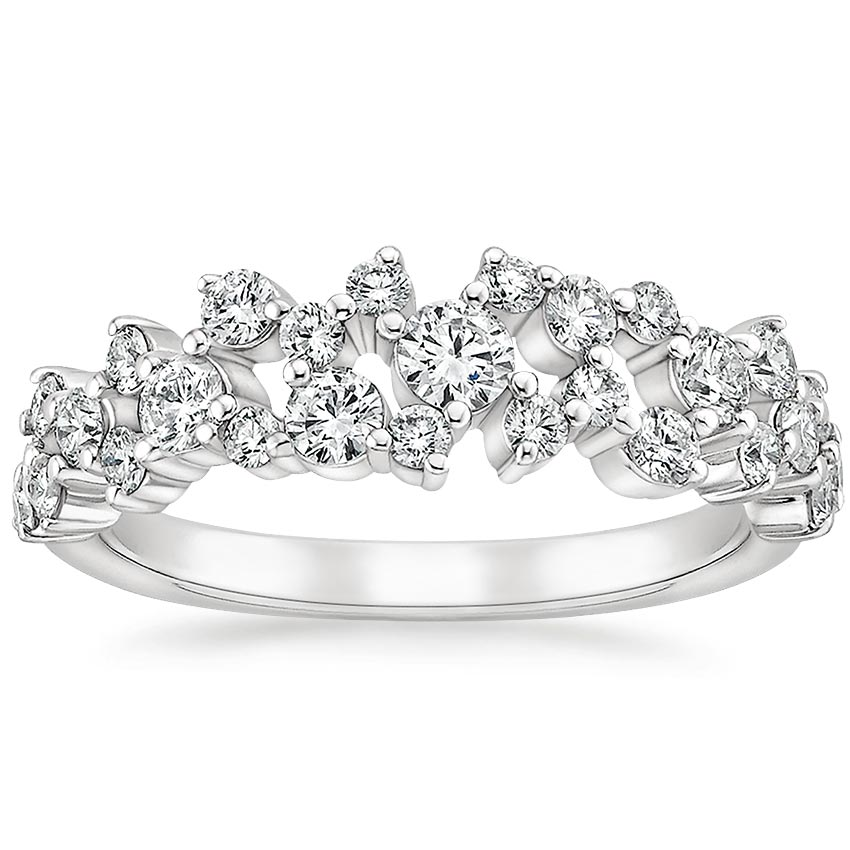 Luxe Scattered Prong Wedding Ring