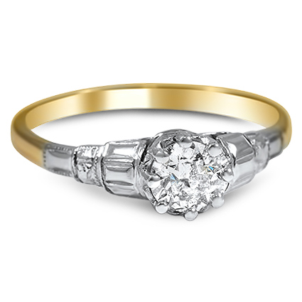 The Christelle Ring, top view