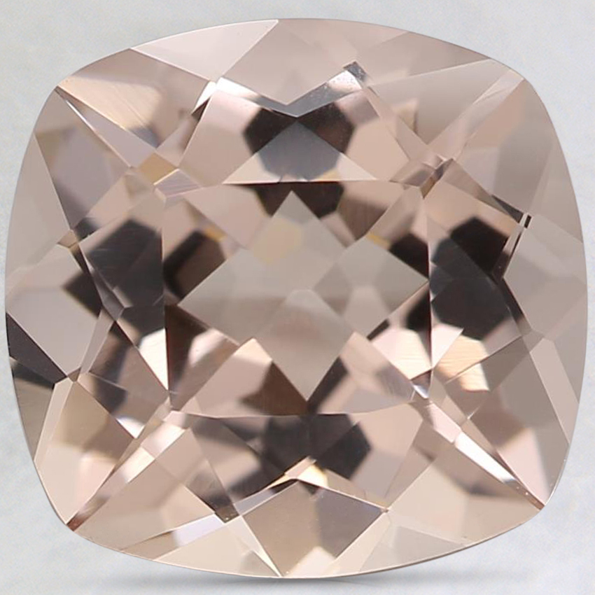 9.8x9.4mm Peach Cushion Morganite