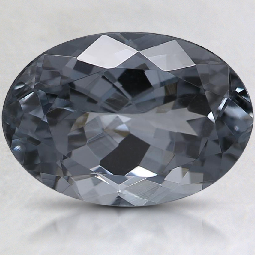 10.4x7.3mm Premium Gray Oval Spinel