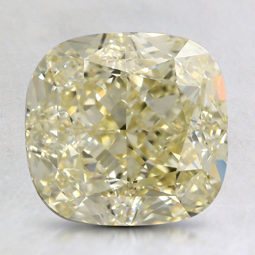 3.01 Ct. Fancy Light Yellow Cushion Colored Diamond
