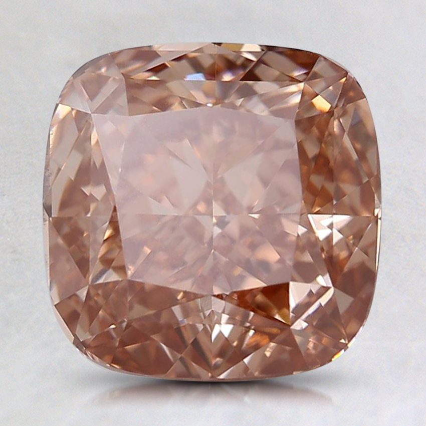 2.68 Ct. Fancy Deep Orangy Pink Cushion Lab Created Diamond