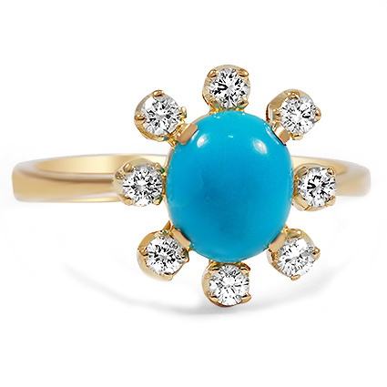 The Portofino Ring, top view