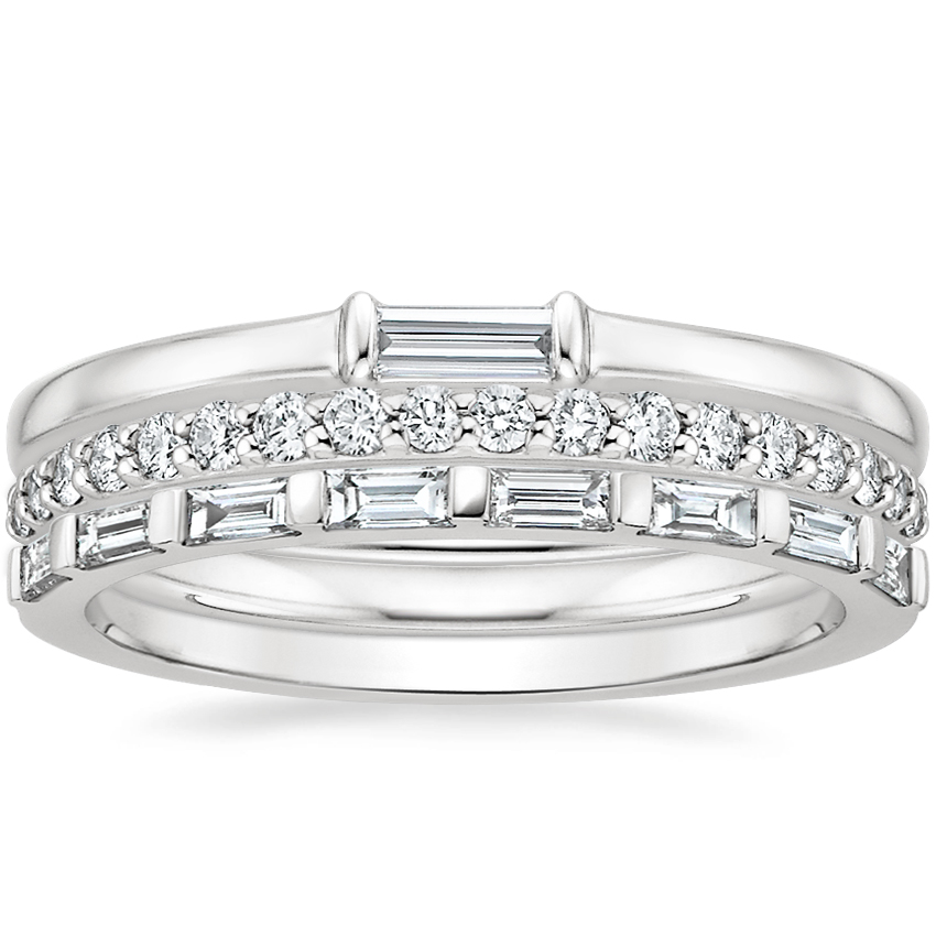 Baguette Diamond Ring Stack (1/2 ct. tw.) in Platinum