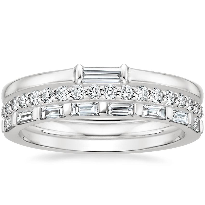 450b7e5ecde1b 18K White Gold Baguette Diamond Ring Stack (1/2 ct. tw.)