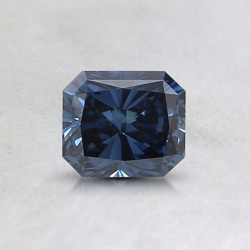 0.55 Ct. Lab Created Fancy Deep Blue Radiant Diamond, top view