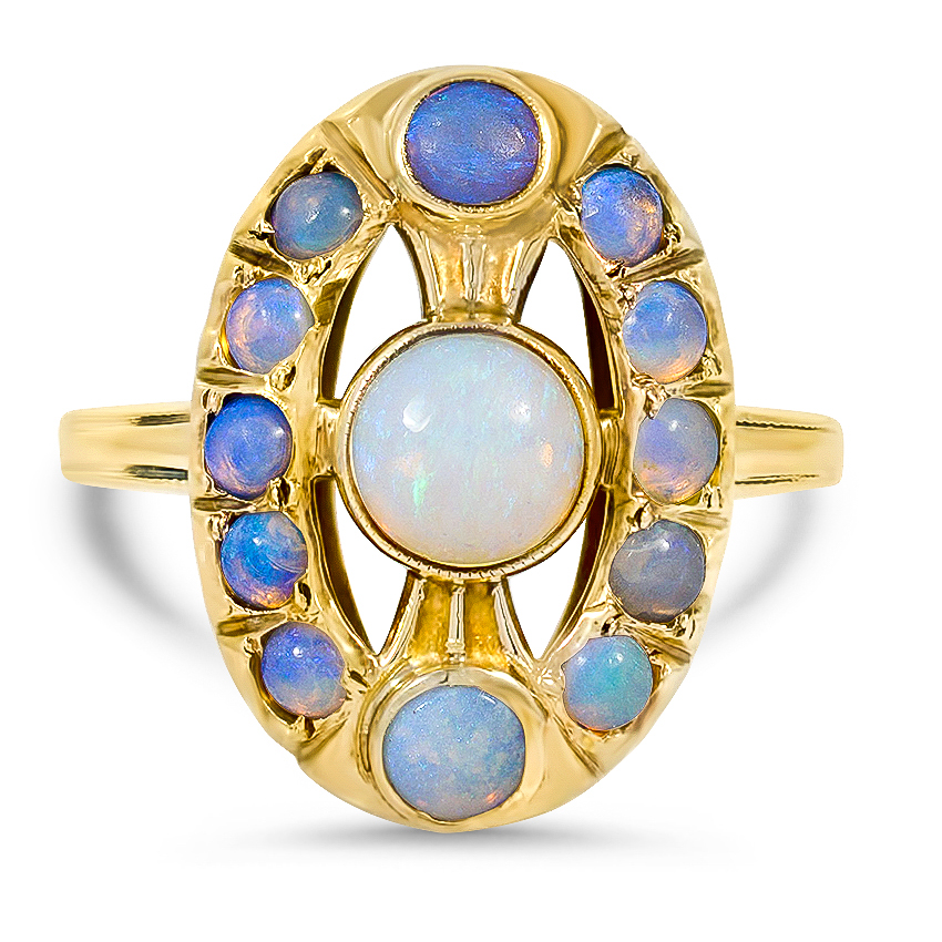 Victorian Opal Cocktail Ring