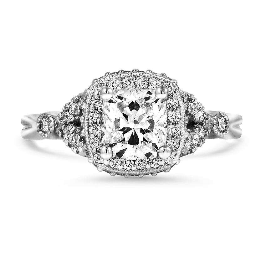 Custom Vintage-Inspired Halo Diamond Ring