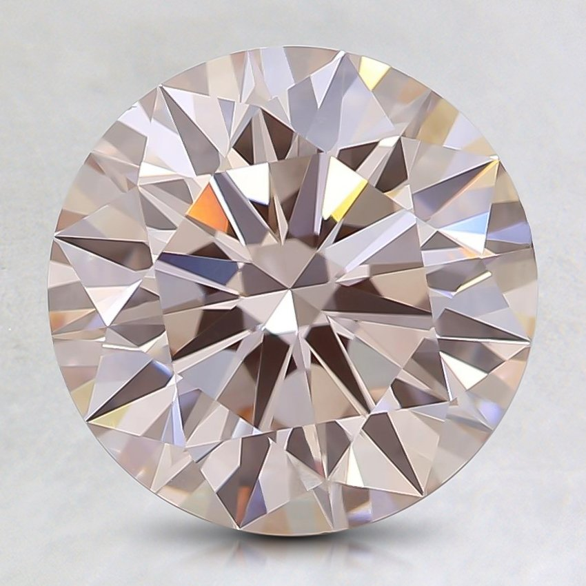 2.28 Ct. Fancy Light Pink Round Lab Created Diamond