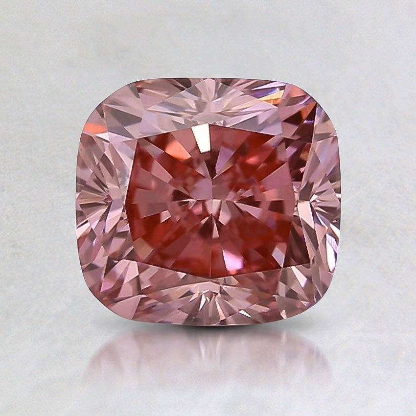 1.65 Ct. Fancy Vivid Pink Cushion Lab Created Diamond