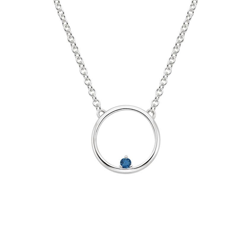 London Blue Topaz Hoop Necklace