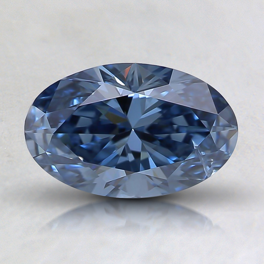 1.00 Ct. Fancy Intense Blue Oval Lab Created Diamond