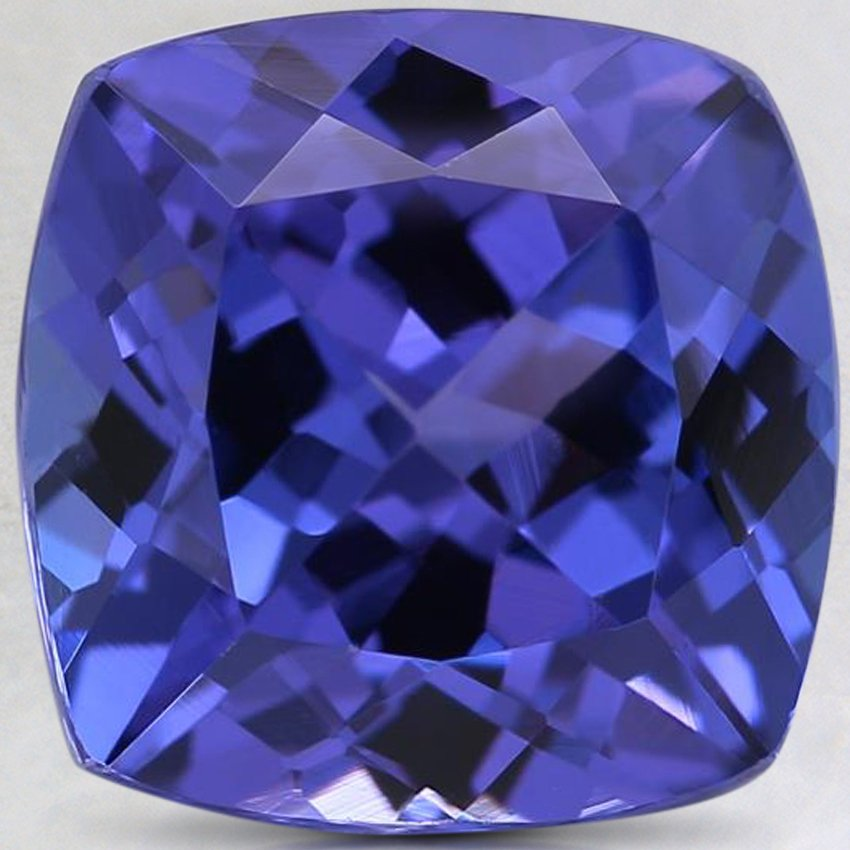 10mm Premium Purple Cushion Tanzanite