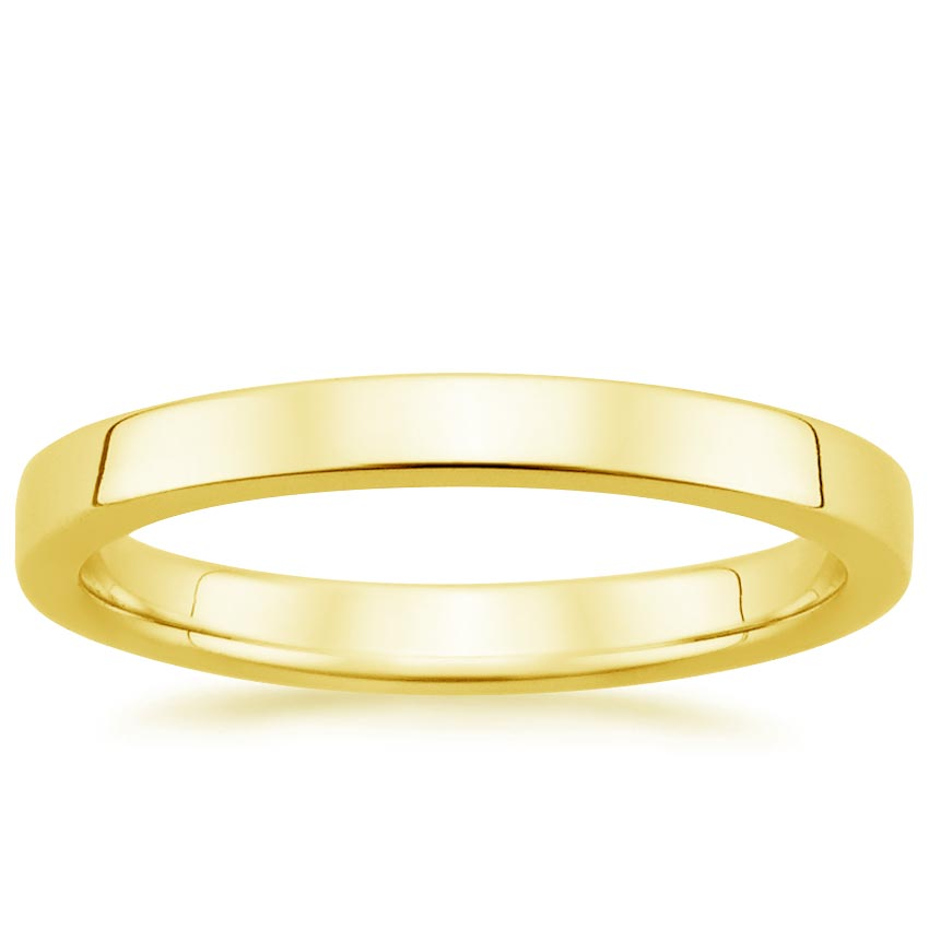 18K Yellow Gold 2.5mm Quattro Wedding Ring, top view