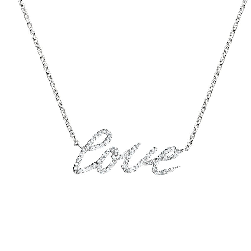 Love Written in Diamonds Necklace
