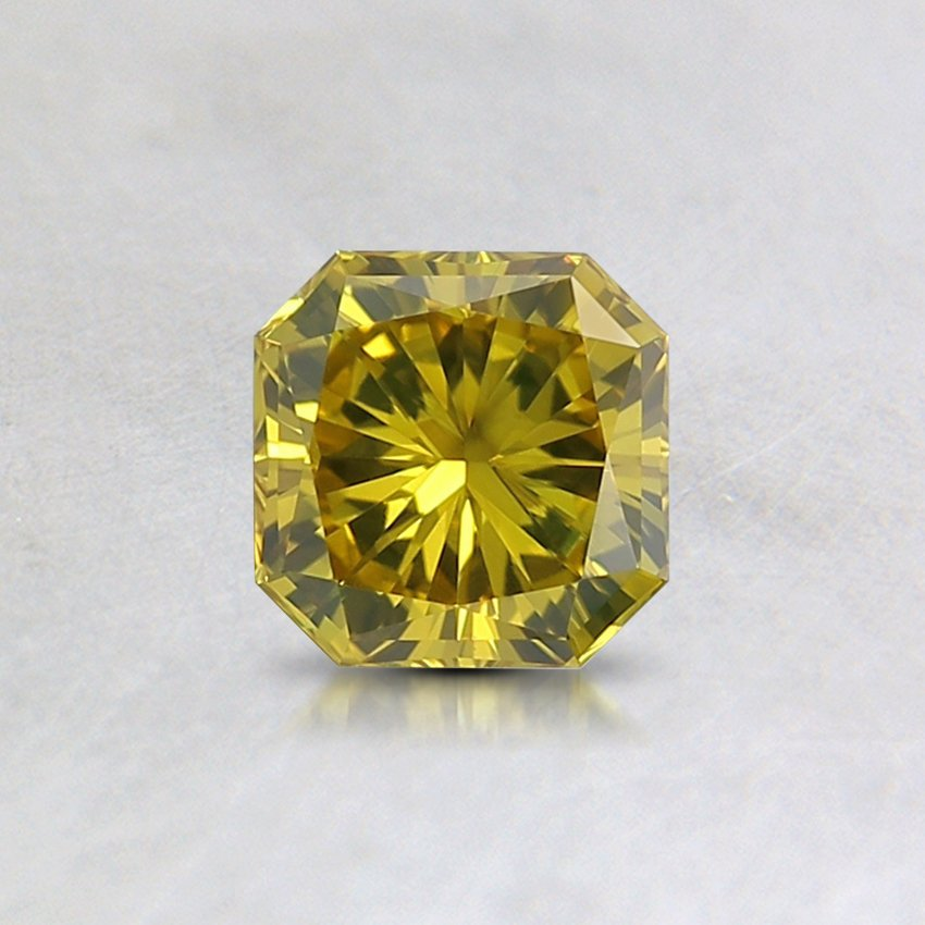 0.48 Ct. Fancy Intense Yellow Radiant Lab Created Diamond