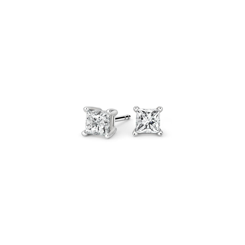 Princess Diamond Stud Earrings (1/4 ct. tw.) in 18K White Gold