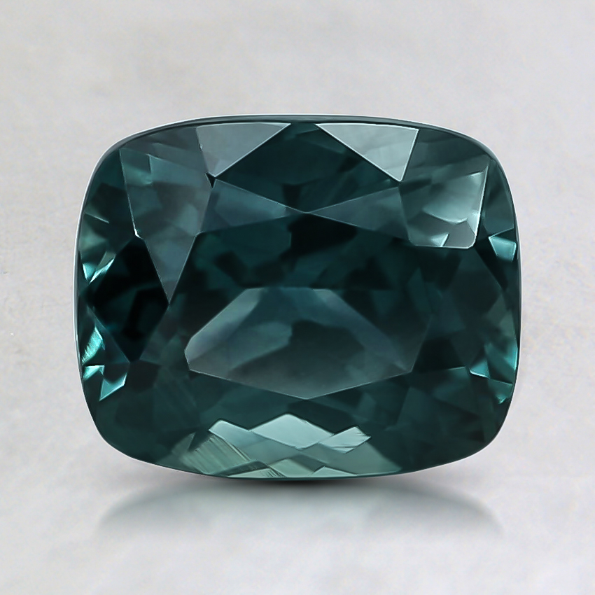 7.7x6.3mm Unheated Cushion Teal Sapphire