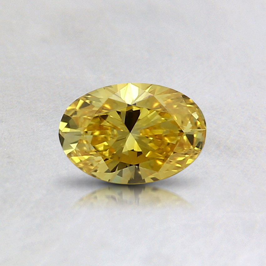 0.33 Ct. Fancy Vivid Yellow Oval Lab Created Diamond
