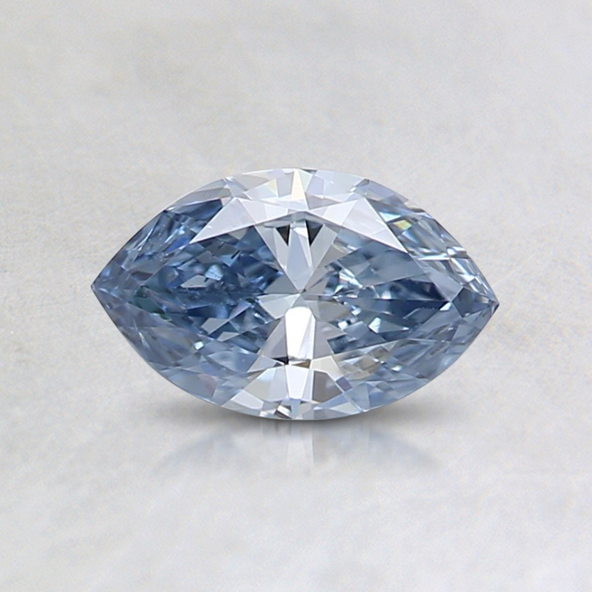 0.39 Ct. Fancy Blue Marquise Lab Created Diamond