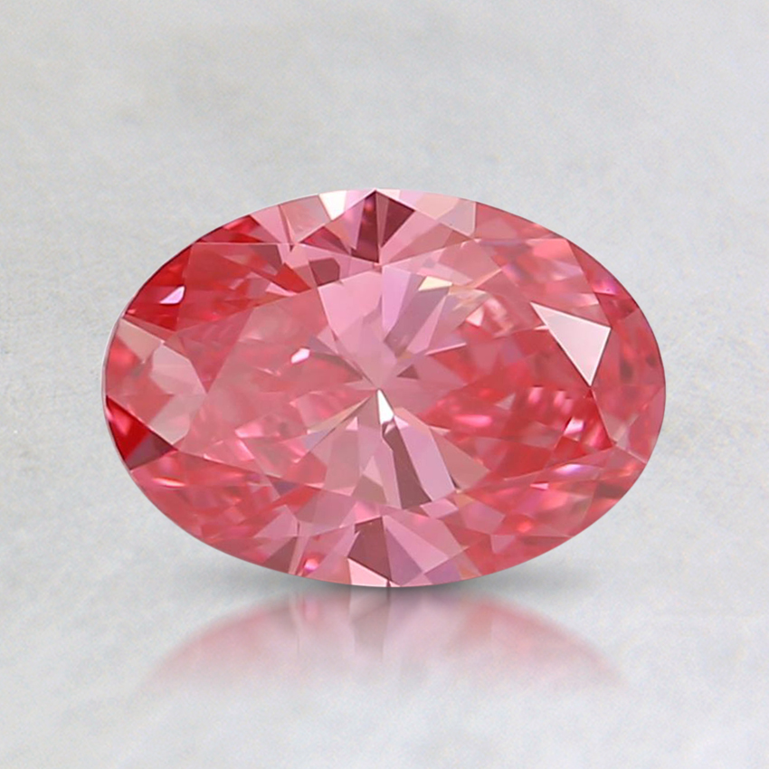 0.74 Ct. Fancy Intense Pink Oval Lab Created Diamond