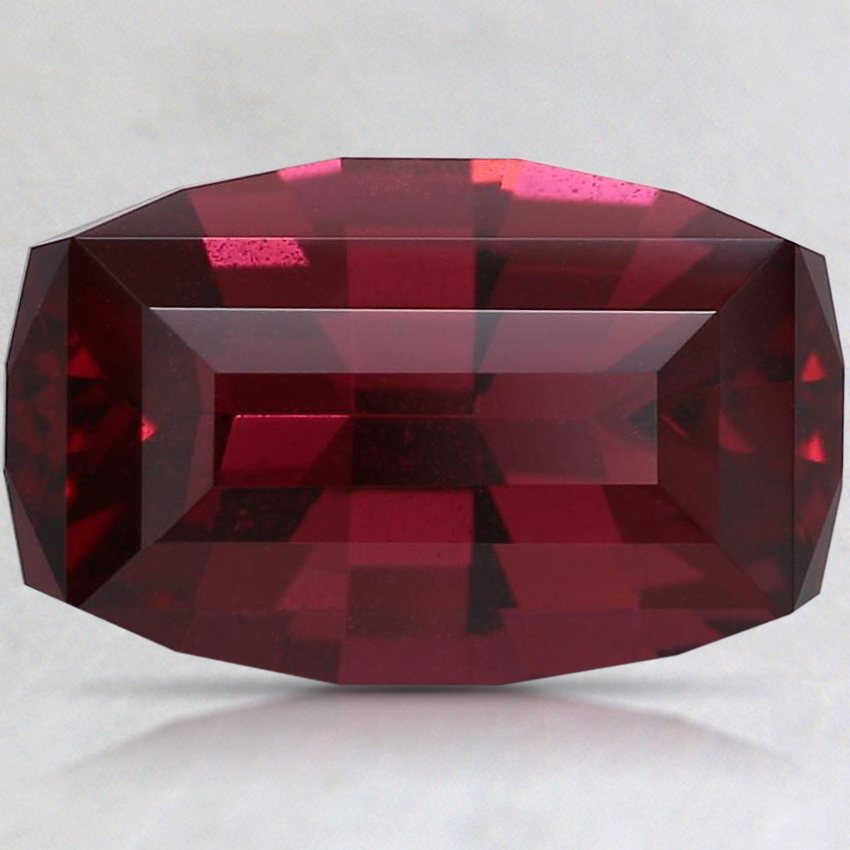 10.8x6.7mm Red Modified Step Cut Cushion Rhodolite Garnet
