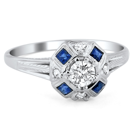 The Demi Ring, top view
