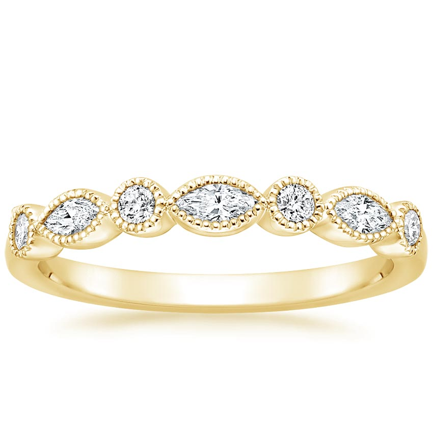 Yellow Gold Antique Inspired Diamond Ring
