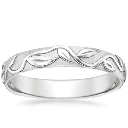 18K White Gold Ivy Ring, top view