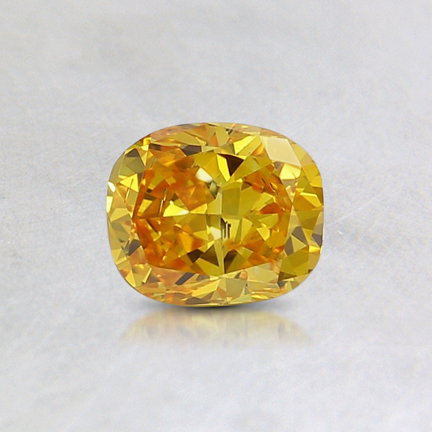 0.48 Ct. Fancy Intense Orangy Yellow Cushion Lab Created Diamond
