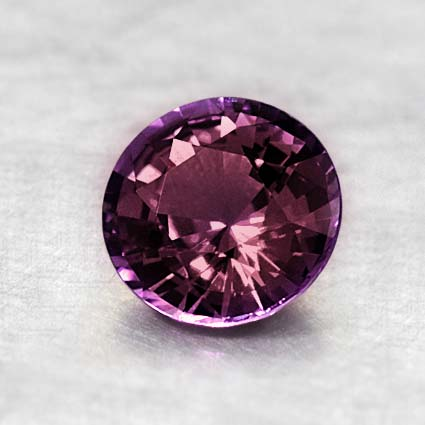 6.5mm Purple Round Sapphire, top view
