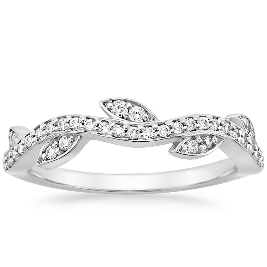 18K White Gold Wisteria Diamond Ring (1/4 ct. tw.), top view