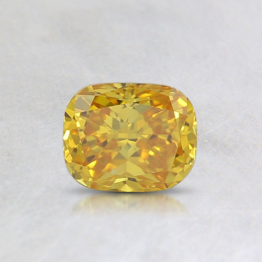 0.54 Ct. Fancy Vivid Orangy Yellow Cushion Lab Created Diamond