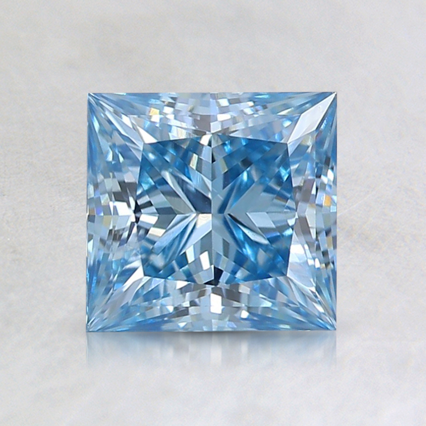1.24 Ct. Fancy Intense Blue Princess Lab Created Diamond