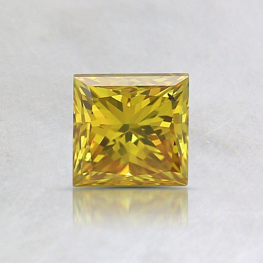 0.59 Ct. Fancy Intense Yellow Princess Lab Created Diamond