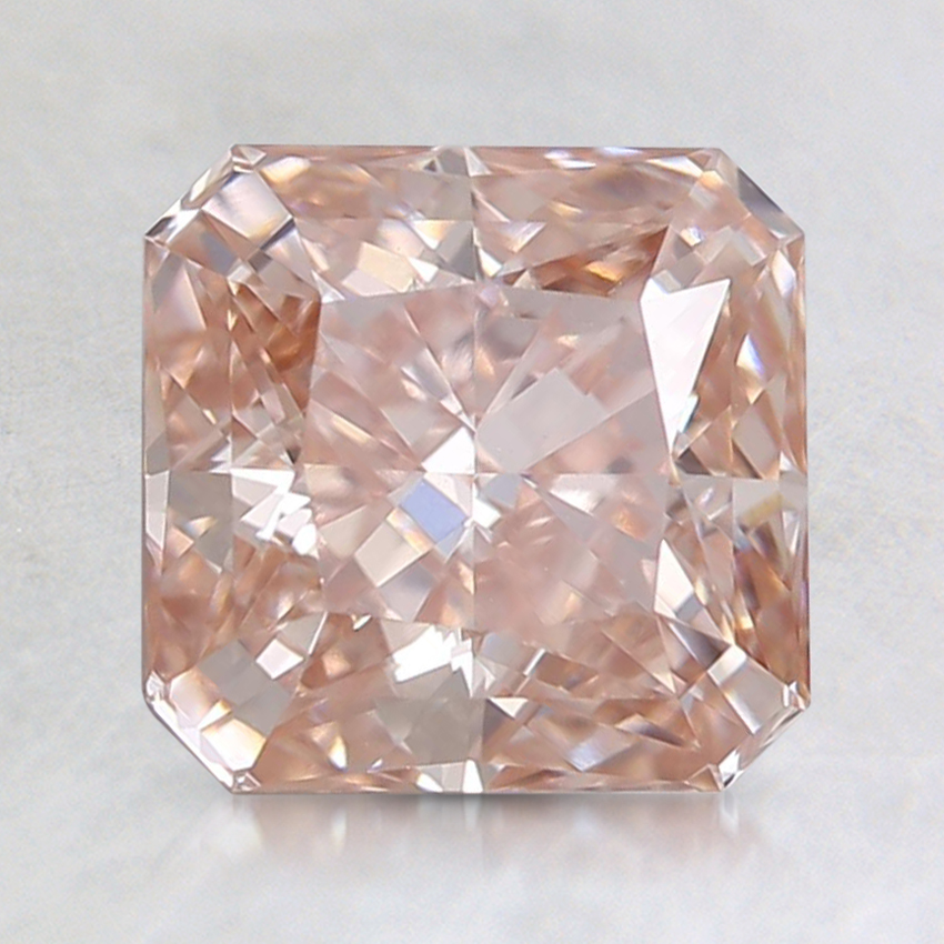 1.50 Ct. Fancy Pink Radiant Lab Created Diamond