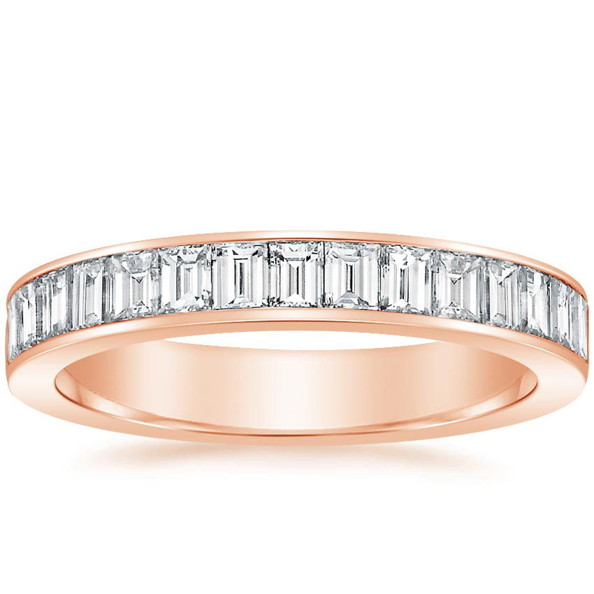 Rose Gold Channel Set Baguette Diamond Ring (1 ct. tw.)