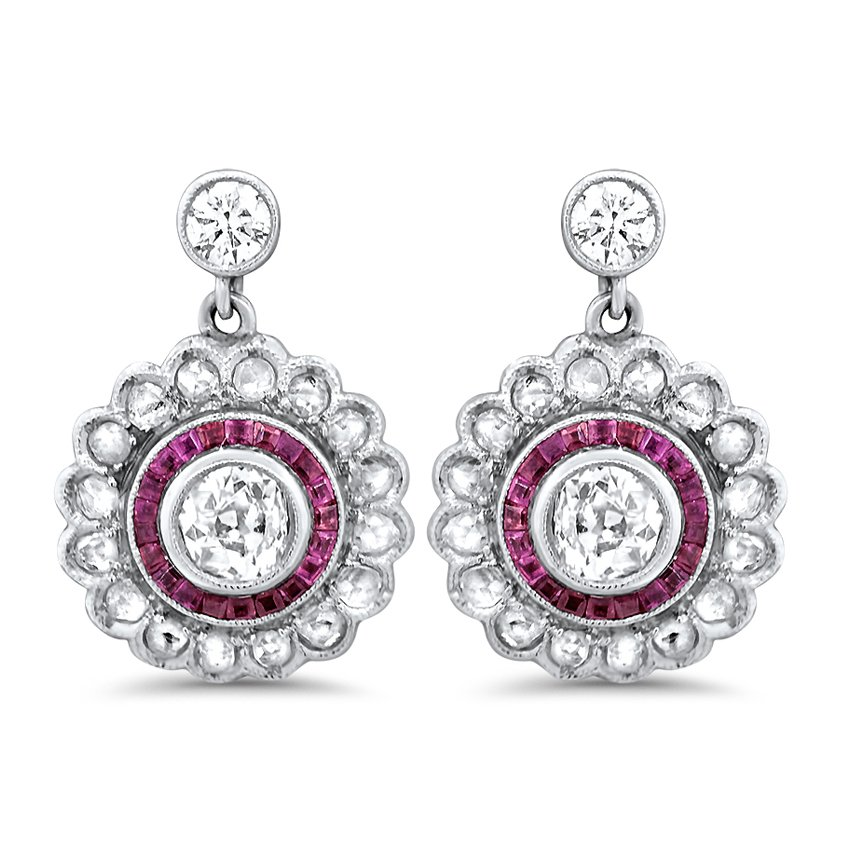 The Conde Earrings, top view