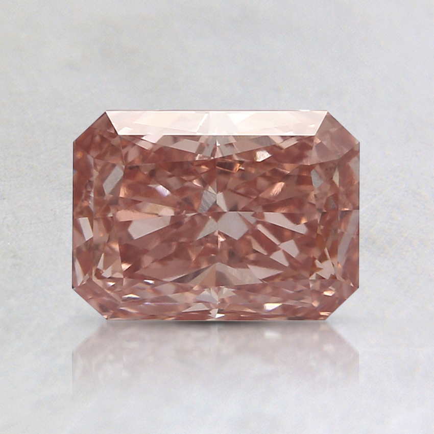 1.67 Ct. Fancy Vivid Pinkish Orange Radiant Lab Created Diamond