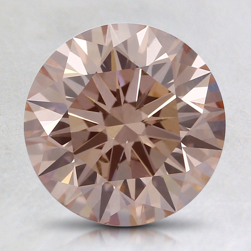 2.04 Ct. Fancy Orangy Pink Round Lab Created Diamond
