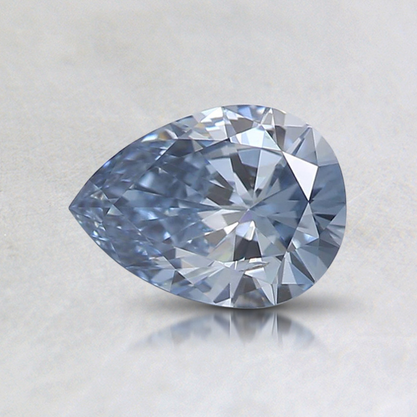 0.54 ct. Lab Created Fancy Vivid Blue Pear Diamond, top view